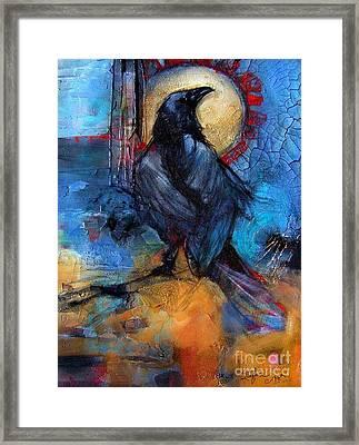 Raven Blue Framed Print