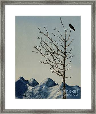 Framed Print featuring the painting Raven Brought Light by Stanza Widen
