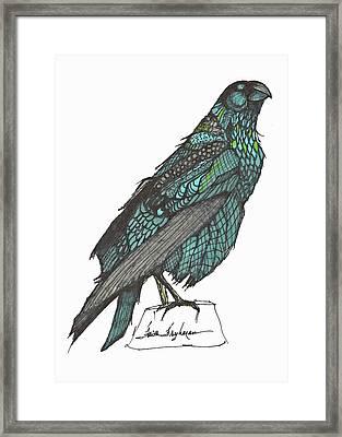 Raven Colored Framed Print