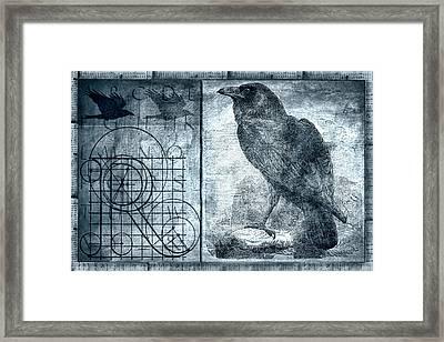 Raven Etching Photomontage Framed Print