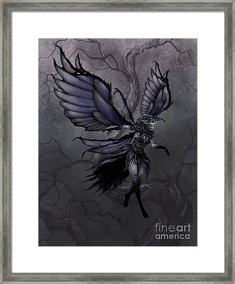 Framed Print featuring the digital art Raven Fairy by Stanley Morrison