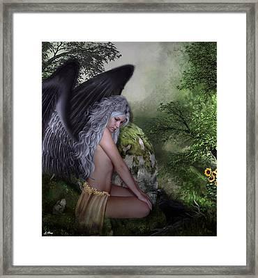 Raven Friendship Framed Print by G Berry