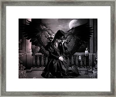 Raven Framed Print by G Berry