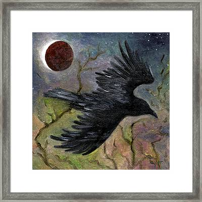 Raven In Twilight Framed Print
