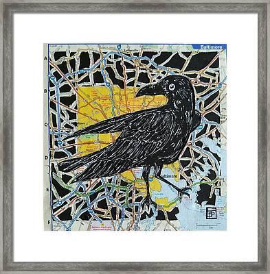 Raven Framed Print by John Parish