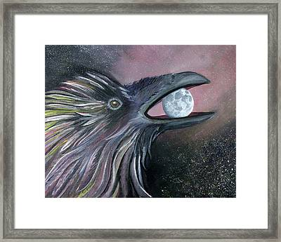 Raven Moon Framed Print by Amy Reisland-Speer