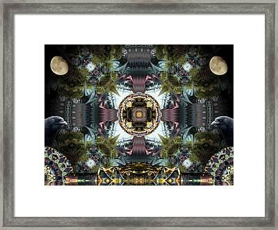 Raven Moon Framed Print by Glen Faxon