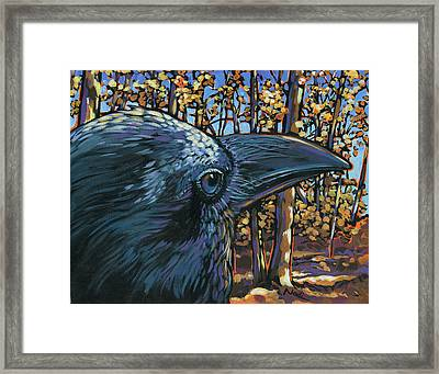 Raven Framed Print by Nadi Spencer