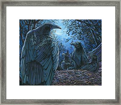 Raven Nest Framed Print by Nadi Spencer
