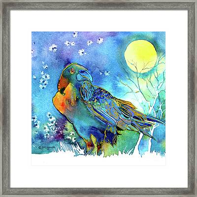 Raven Night Spirit Framed Print