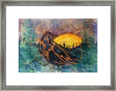 Raven Of The Woods Framed Print