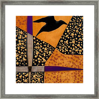 Raven Paints Light Framed Print by Carol Leigh