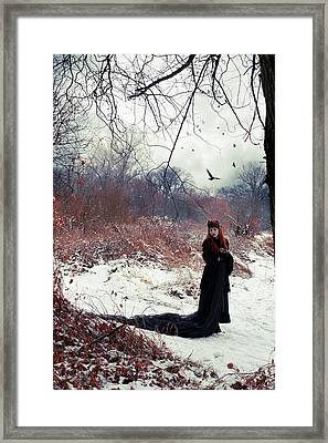 Raven Queen Framed Print by Cambion Art