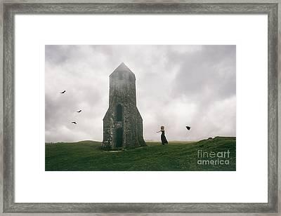 Raven Queen Framed Print