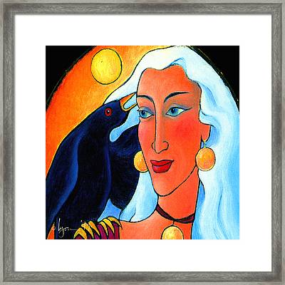 Raven Speaks Framed Print by Angela Treat Lyon