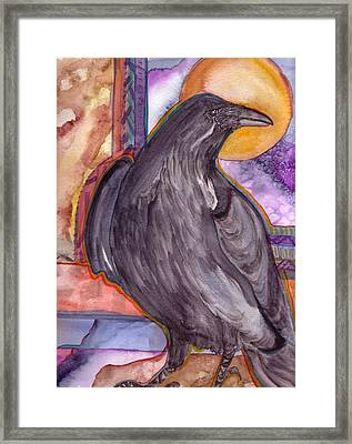 Raven Steals Sunlight Framed Print by K Hoover