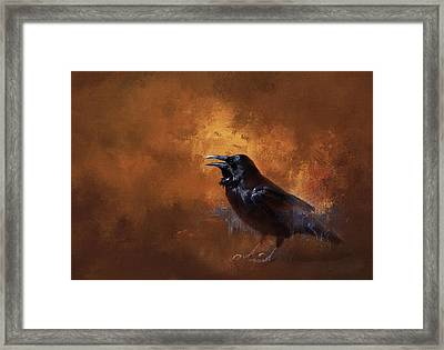 Raven Framed Print by Theresa Tahara