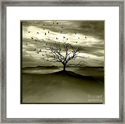 Raven Valley Framed Print by Jacky Gerritsen