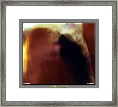 Raven Visits Framed Print by Jane Tripp
