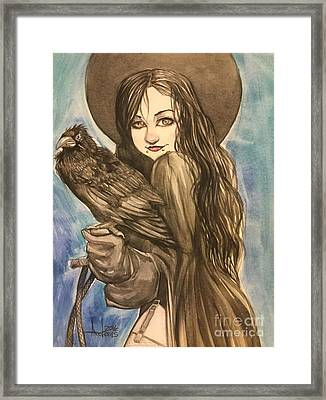 Raven Witch Framed Print