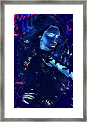 Framed Print featuring the digital art Raven Woman by Seth Weaver