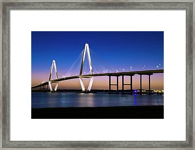 Framed Print featuring the photograph Ravenel Bridge 2 by Bill Barber