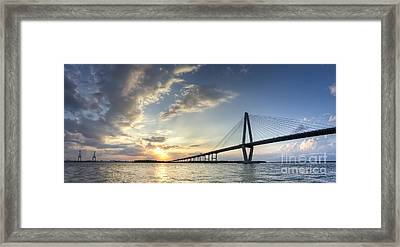 Ravenel Bridge Cooper River Sunset Framed Print