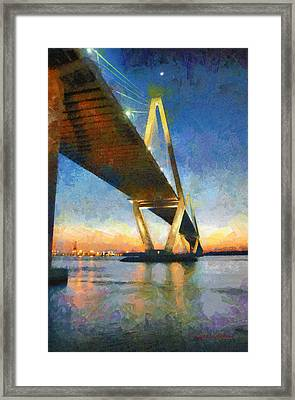 Ravenel Bridge Framed Print