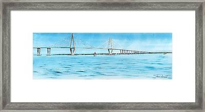 Ravenel Bridge Framed Print by Thomas Hamm