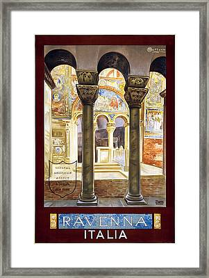 Ravenna, Travel Poster 1925 Framed Print