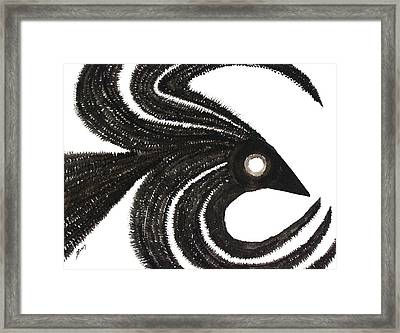 Ravenous Original Painting Framed Print by Sol Luckman