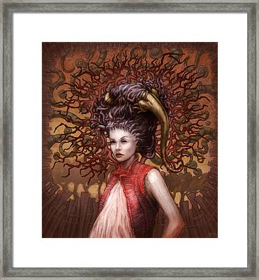 Ravenous Pregnancy In Color Framed Print by Ethan Harris