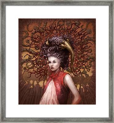 Ravenous Pregnancy In Color Framed Print