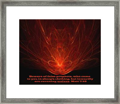 Framed Print featuring the digital art Ravenous by R Thomas Brass