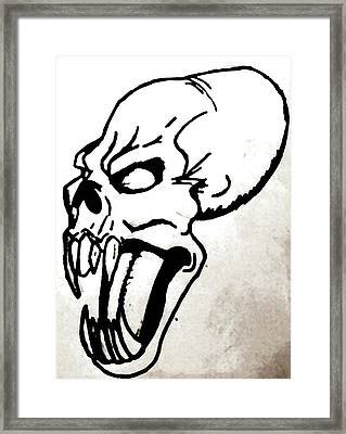 Ravenous Framed Print by Yshua The Painter
