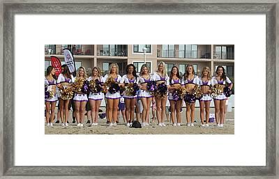 Raven's Cheerleaders On The Beach Framed Print