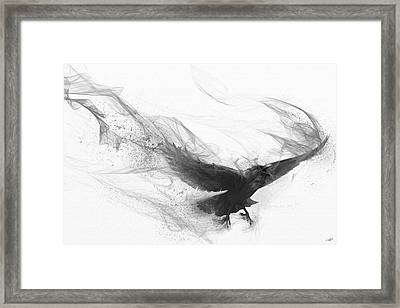 Raven's Flight Framed Print