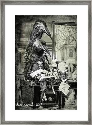 Ravens For Halloween Framed Print