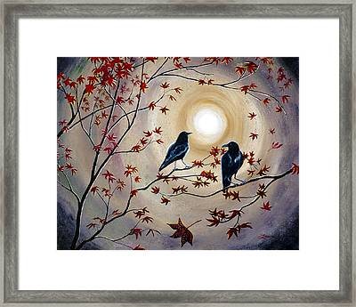 Ravens In Autumn Framed Print
