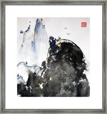 Raven's Mountain Framed Print