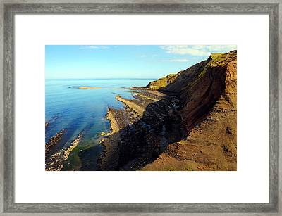 Ravenscar Cliffs Framed Print by Svetlana Sewell