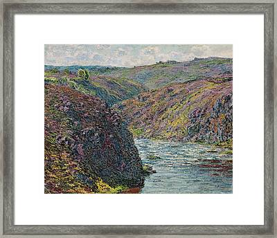 Ravines Of The Creuse At The End Of The Day Framed Print by Claude Monet