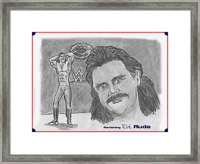 Ravishing Rick Rude Framed Print by Chris  DelVecchio