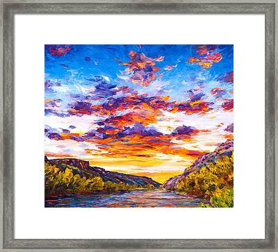 Ravishing River Framed Print