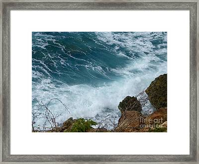Raw Blue Power Framed Print