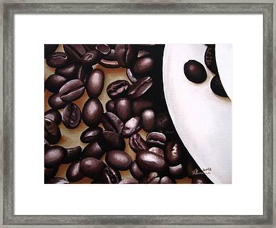 Raw Caffeine Framed Print by Kayleigh Semeniuk