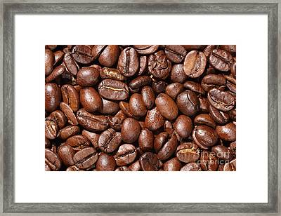 Raw Coffee Beans Background Framed Print