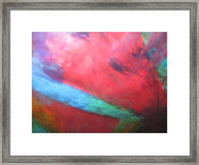 Raw Courage Framed Print by Paula Andrea Pyle