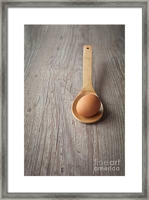 Raw Egg Framed Print