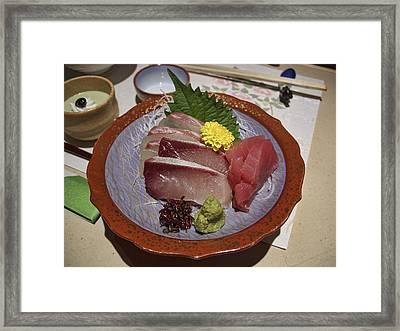 Raw Fish Sashimi Plate - Kyoto Japan Framed Print by Daniel Hagerman